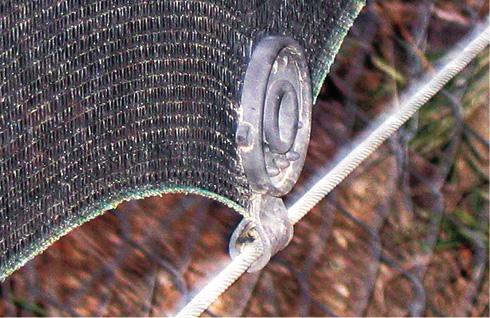 Detalle de aplicación de las pinzas de sujeción